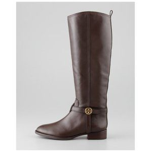 Tory Burch Bristol Coconut Leather Riding Boots